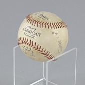 view Baseball stamped with the Negro American League logo digital asset number 1