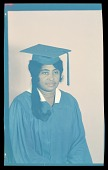 view Studio Portrait of a Woman Sitting, Wearing a Cap and Gown, Ezzie Smith digital asset number 1