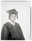 view Studio Portrait of a Woman Sitting, Wearing a Cap and Gown digital asset number 1