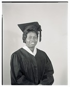 view Studio Portrait of a Woman Sitting Wearing a Cap and Gown digital asset number 1