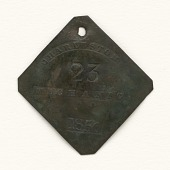 view Charleston slave badge from 1850 for Mechanic No. 23 digital asset number 1