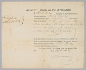 view Seaman's Protection Certificate for Robert Barnaby digital asset number 1