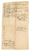 view Receipt for blankets given to soldiers Prince Simbo and Sampson Freeman digital asset number 1