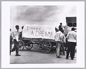 view <I>Mule Train leaves for Washington, Poor People's March, Marks, MS</I> digital asset number 1