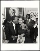 view <I>Rev Ralph Abernathy embracing Rosa Parks, Benjamin Hooks on left, SCLC Convention, Memphis, TN</I> digital asset number 1