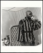 view <I>Isaac Hayes in His Office at Stax Records, Memphis, Tennessee</I> digital asset number 1