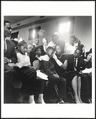 view <I>Mrs. Medgar Evers and family - she comforts her eldest son at Medgar Evers' funeral, Jackson MS</I> digital asset number 1