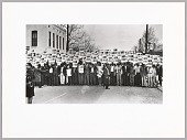 view <I>Sanitation Workers assemble in front of Clayborn Temple for a solidarity march. Memphis, TN</I> digital asset number 1
