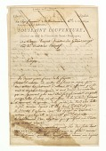 view Letter to Charles Humbert Marie Vincent signed by Toussaint Louverture digital asset number 1