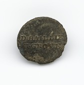 view Identification button worn by enslaved persons on Golden Grove Plantation digital asset number 1