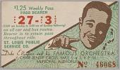 view Transit pass for St. Louis Public Service Company depicting Duke Ellington digital asset number 1