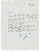 "view Letter to Margaret Martin Wallace (""Meg"") from Josephine Baker digital asset number 1"