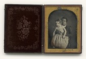 view Daguerreotype of an African American child holding a white baby digital asset number 1