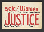 view Poster supporting women and justice made by SCLC digital asset number 1