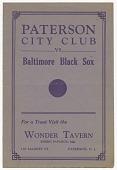 view <I>Paterson City Club vs. Baltimore Black Sox</I> digital asset number 1
