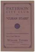 "view <I>Paterson City Club vs. ""Cuban Stars""</I> digital asset number 1"