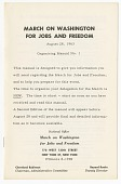 view <I>March on Washington for Jobs and Freedom: Organizing Manual No. 1</I> digital asset number 1