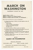 view Flier for the March on Washington distributed by CORE digital asset number 1