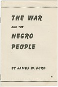 view <I>The War and the Negro People</I> digital asset number 1