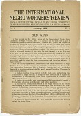 view <I>The International Negro Workers' Review Vol. 1 No. 1</I> digital asset number 1