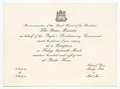 view Invitation to reception commemorating 1979 Grenadan revolution digital asset number 1