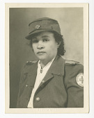 view Photograph of Frances Albrier wearing a Red Cross uniform digital asset number 1