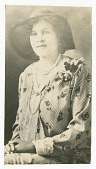 view Photograph of Frances Albrier in hat and pearls digital asset number 1