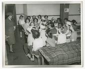 view Photograph of Frances Albrier teaching a first aid class digital asset number 1