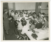 view Photograph of Frances Albrier teaching a first aid class digital asset number 1