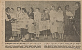 view Newspaper clipping of women distributing voter registration pamphlets digital asset number 1