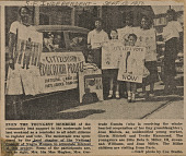 view News clipping of a photo of women and children with voter registration signs digital asset number 1