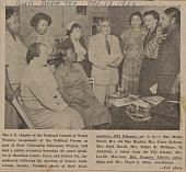 view Newspaper clipping of a photograph of women at the NCNW chapter headquarters digital asset number 1