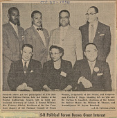 view Newspaper clipping of a photograph of participants in the NCNW Political Forum digital asset number 1