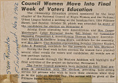 view <I>Council Women Move Into Final Week of Voters Education</I> digital asset number 1