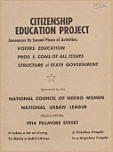 view Flyer promoting the second phase of the NCNW's Citizenship Education Project digital asset number 1
