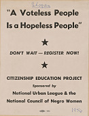 view Flyer promoting the Citizenship Education Project digital asset number 1
