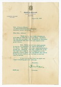 view Letter to Frances Albrier from G. Mennen Williams digital asset number 1