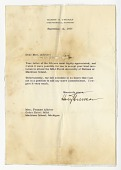 view Letter to Frances Albrier from Harry S. Truman with envelope digital asset number 1