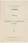 view Program for a Marian Anderson concert at the War Memorial Opera House digital asset number 1
