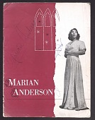 view Promotional and souvenir program autographed by Marian Anderson digital asset number 1