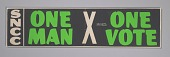 view Bumper sticker with the slogan One Man, One Vote digital asset number 1