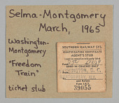 view Ticket stub for Washington, DC to Montgomery, AL for Selma-Montgomery March digital asset number 1