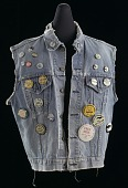 view Commemorative denim vest with buttons assembled by Joan Trumpauer Mulholland digital asset number 1