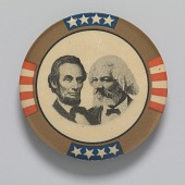 view Pinback button featuring Abraham Lincoln and Frederick Douglass digital asset number 1
