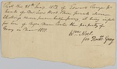 view Payment receipt to Rosa Gray for the hire of an enslaved man, Cook digital asset number 1