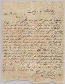 view Letter concerning procurement of whips, personal affects, and bolts of cloth digital asset number 1
