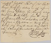 view Payment receipt for $25 for bringing an enslaved man from Turks Island digital asset number 1