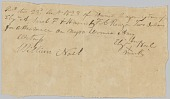"""view Payment receipt to Elizabeth Noel for """"attendance on negro woman Amy"""" digital asset number 1"""