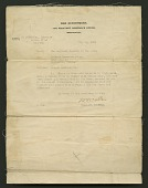 view Letter from the War Department to Cpl. Lawrence Leslie McVey digital asset number 1