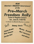 view Flier for a pre-march Freedom Rally for the Meredith Marchers digital asset number 1